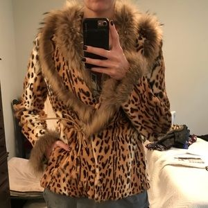 Rizal Leopard Printed rabbit fur made in France